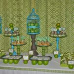 owl baby shower dessert table