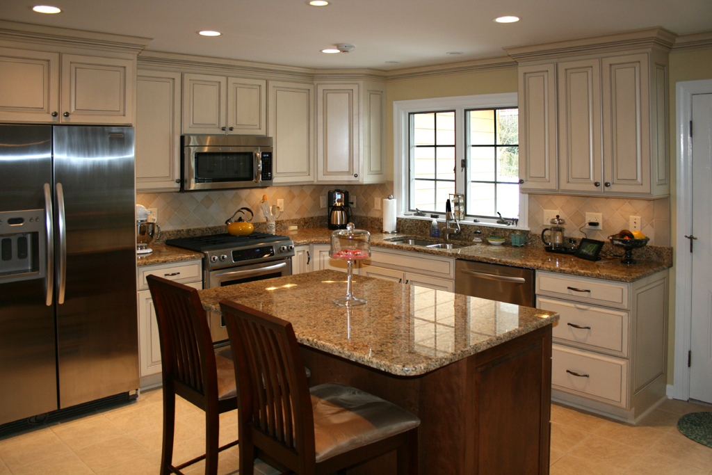 Image of: painting kitchen and cabinets