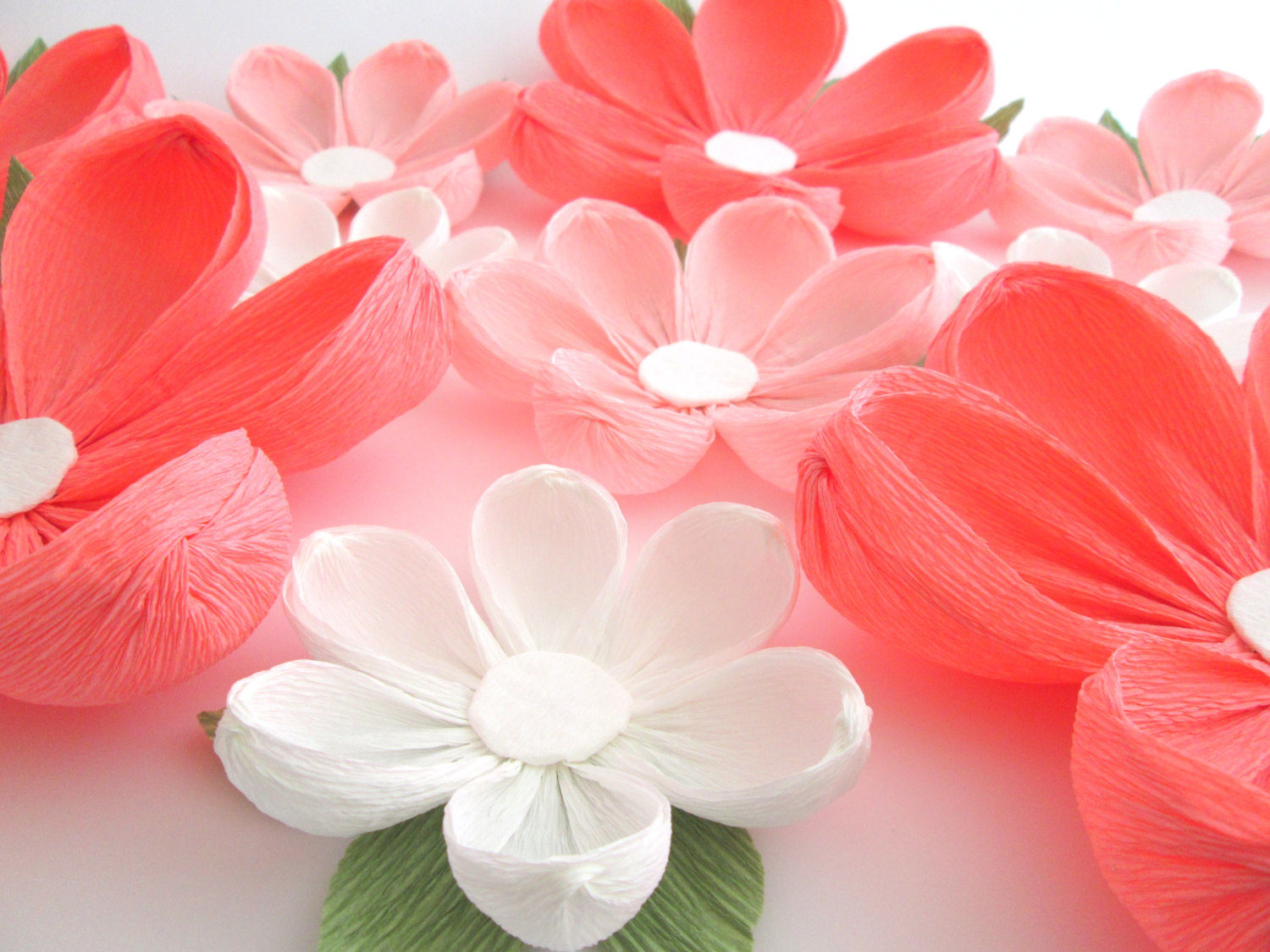 Image of: paper flower decorations