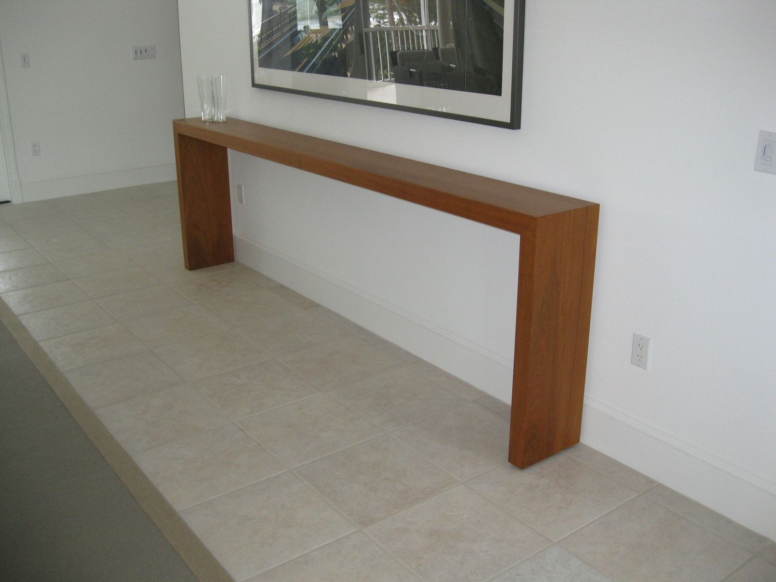 Image of: parsons console table