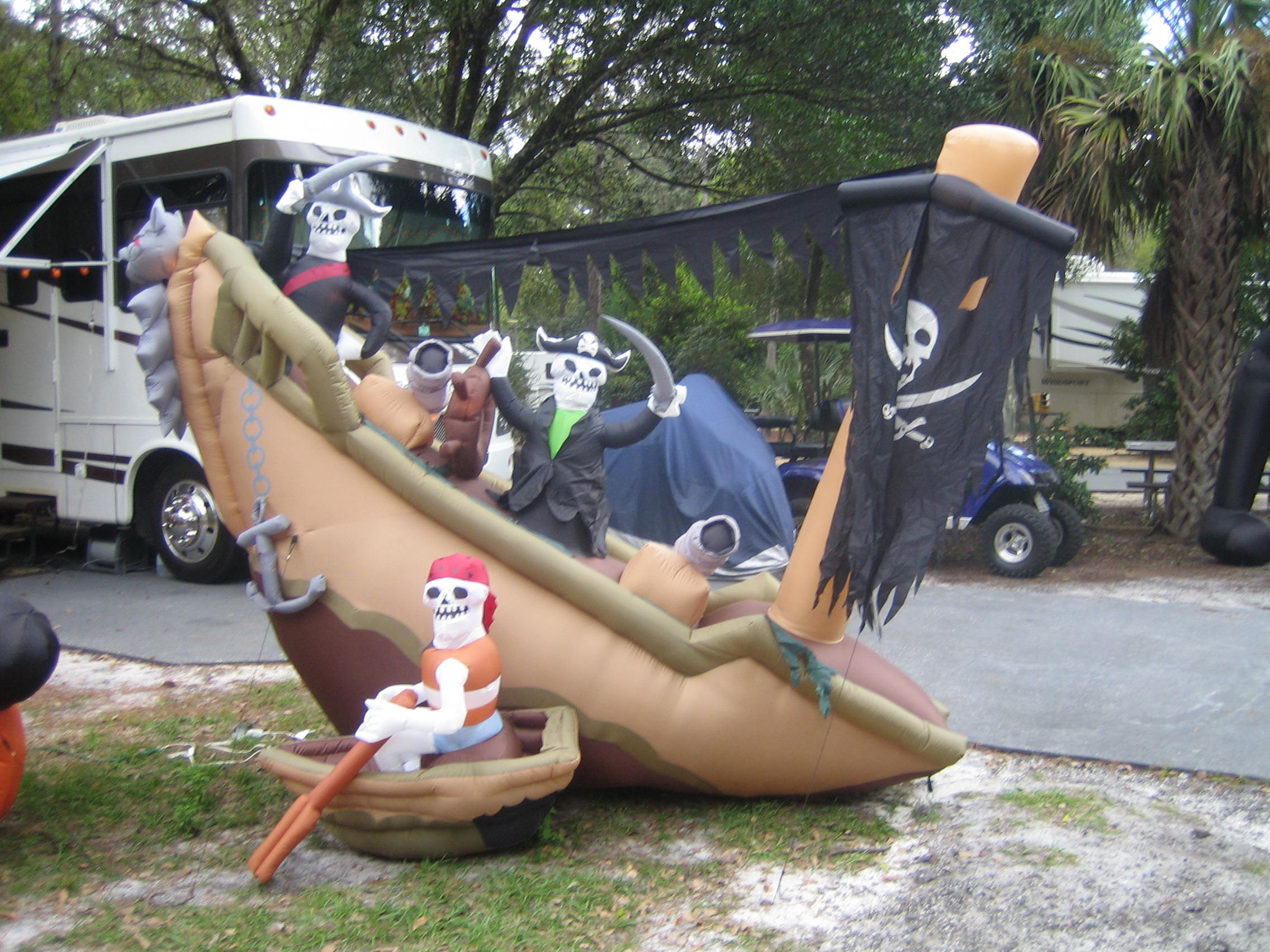 Image of: pirate halloween decorations