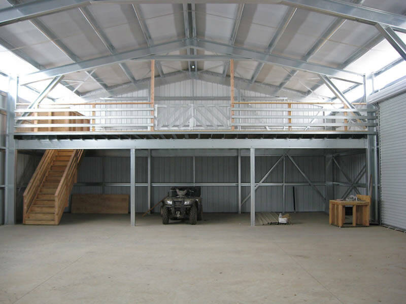 Image of: pole barn designs with loft