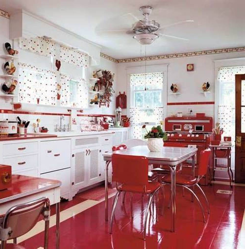 Image of: retro kitchen art ideas