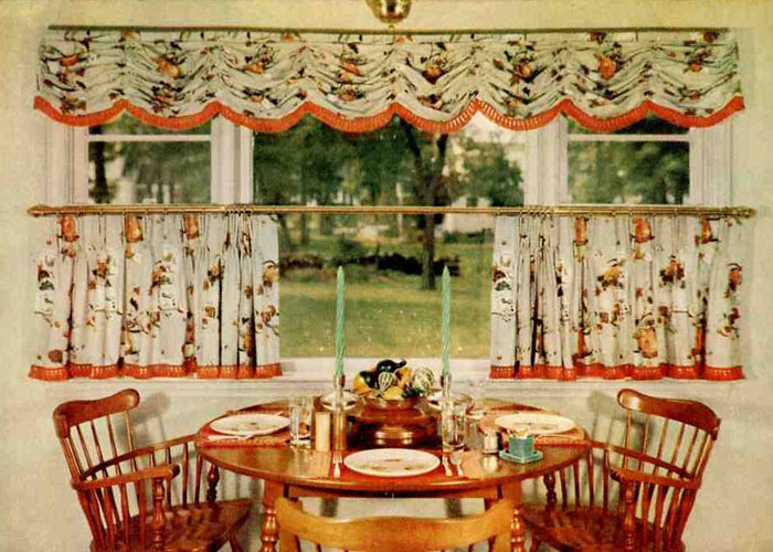 Image of: retro kitchen curtain ideas