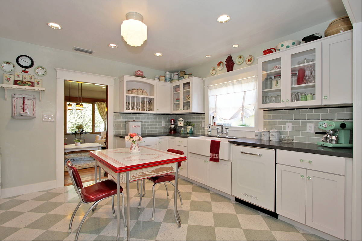 Image of: retro kitchen flooring ideas