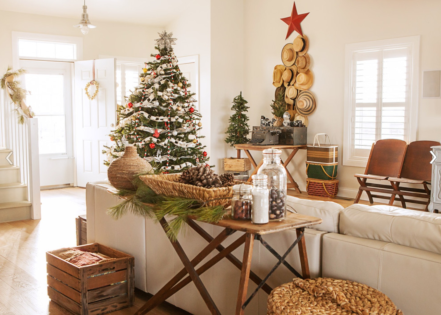 Image of: rustic christmas decorating ideas