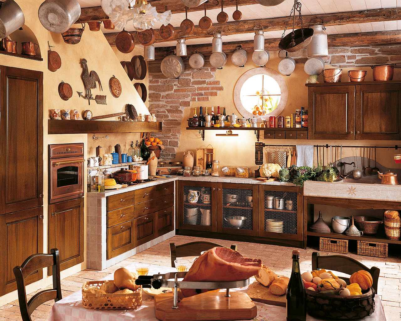 Image of: rustic kitchen decor ideas