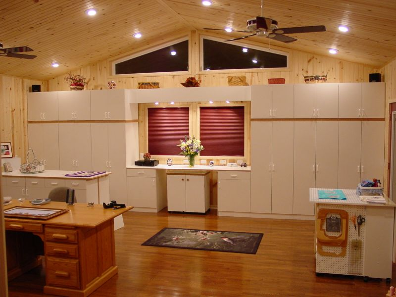 Image of: sewing room cabinet design