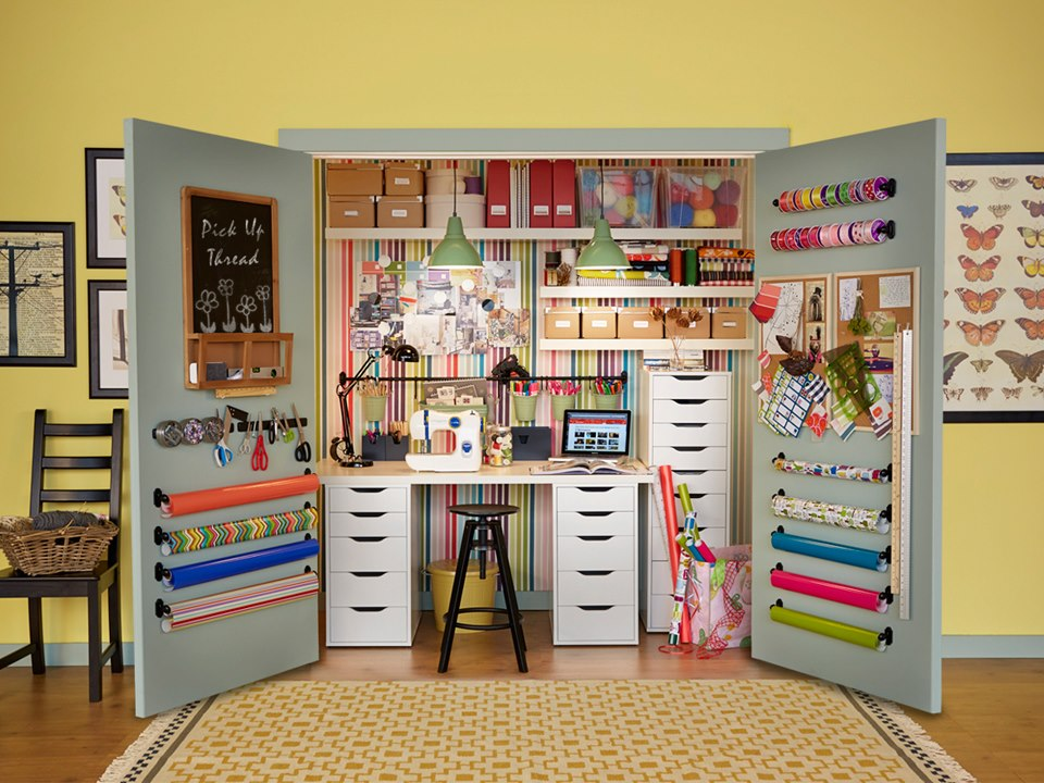 Image of: sewing room color ideas