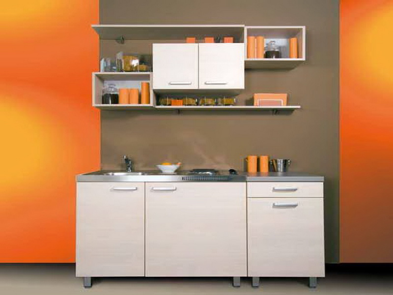 Image of: small kitchen design cabinets