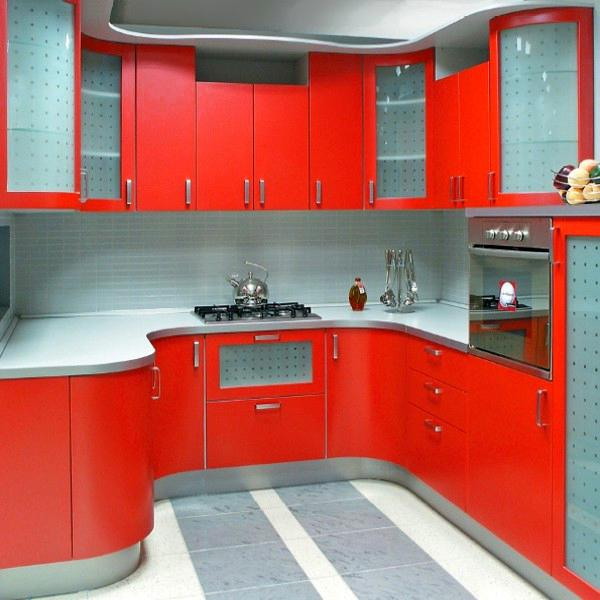 Image of: small kitchen design colors