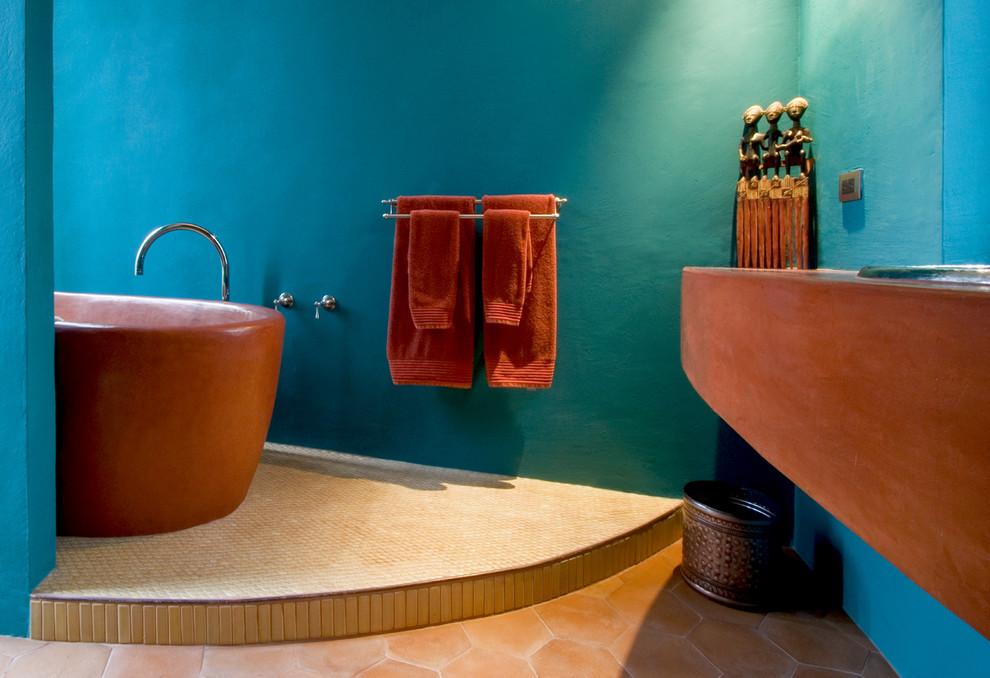 Image of: southwestern bathroom decor
