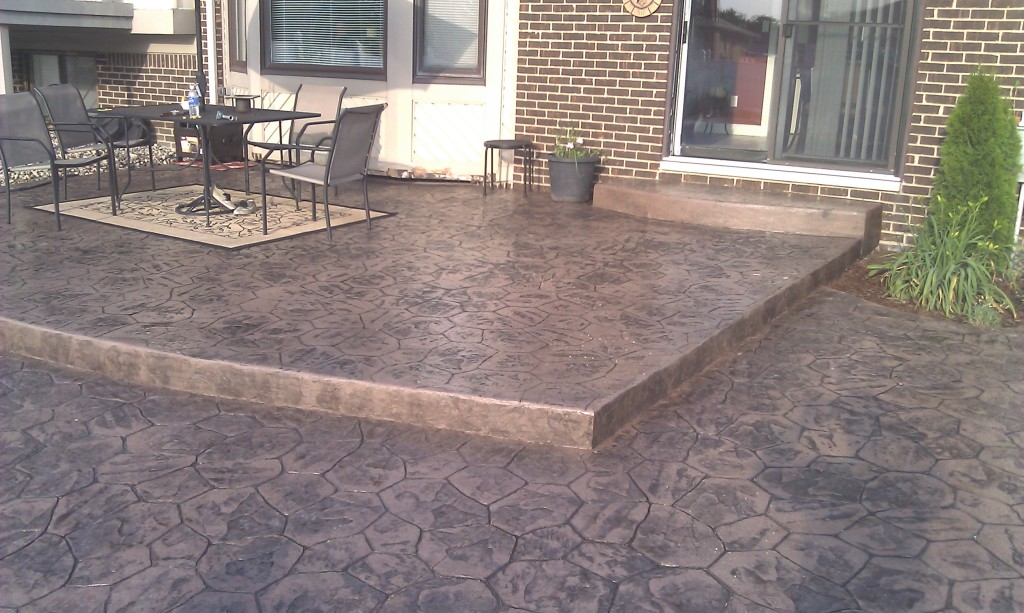 Image of: stamped concrete patio designs pictures