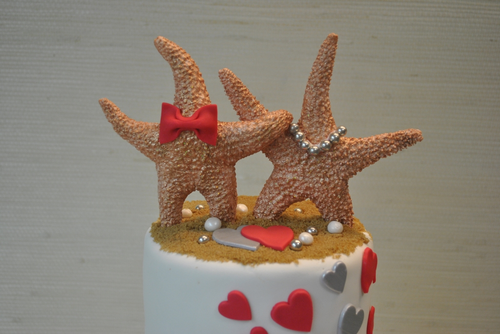Image of: starfish cake decorations