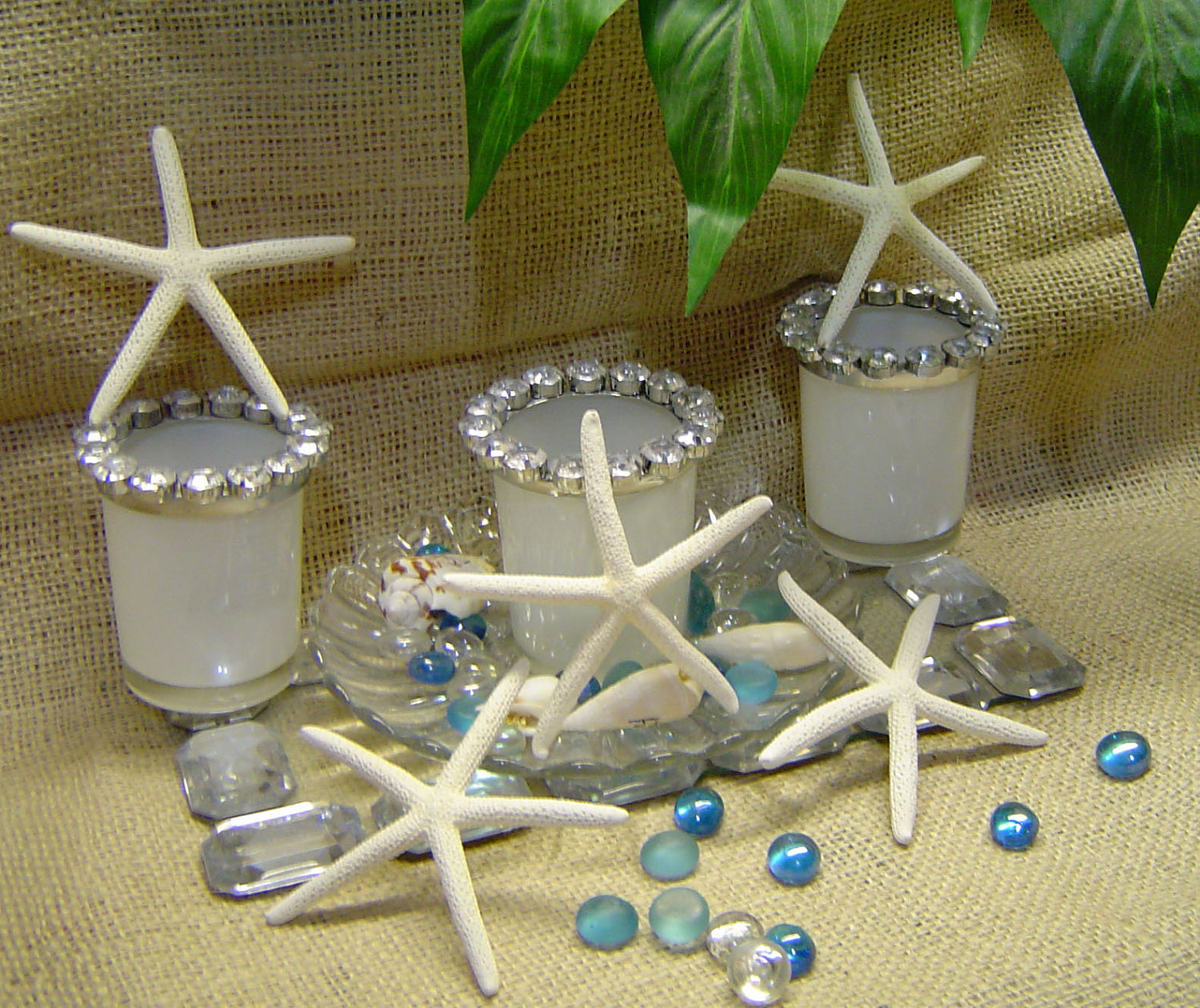 Image of: starfish wedding decor