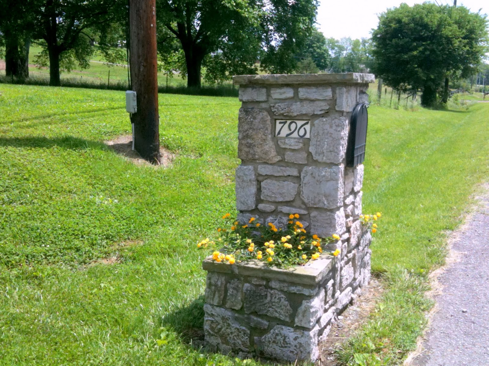 Image of: stone mailbox designs