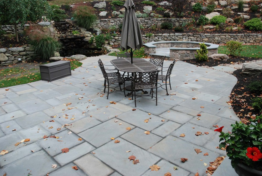 Image of: stone patio designs pictures