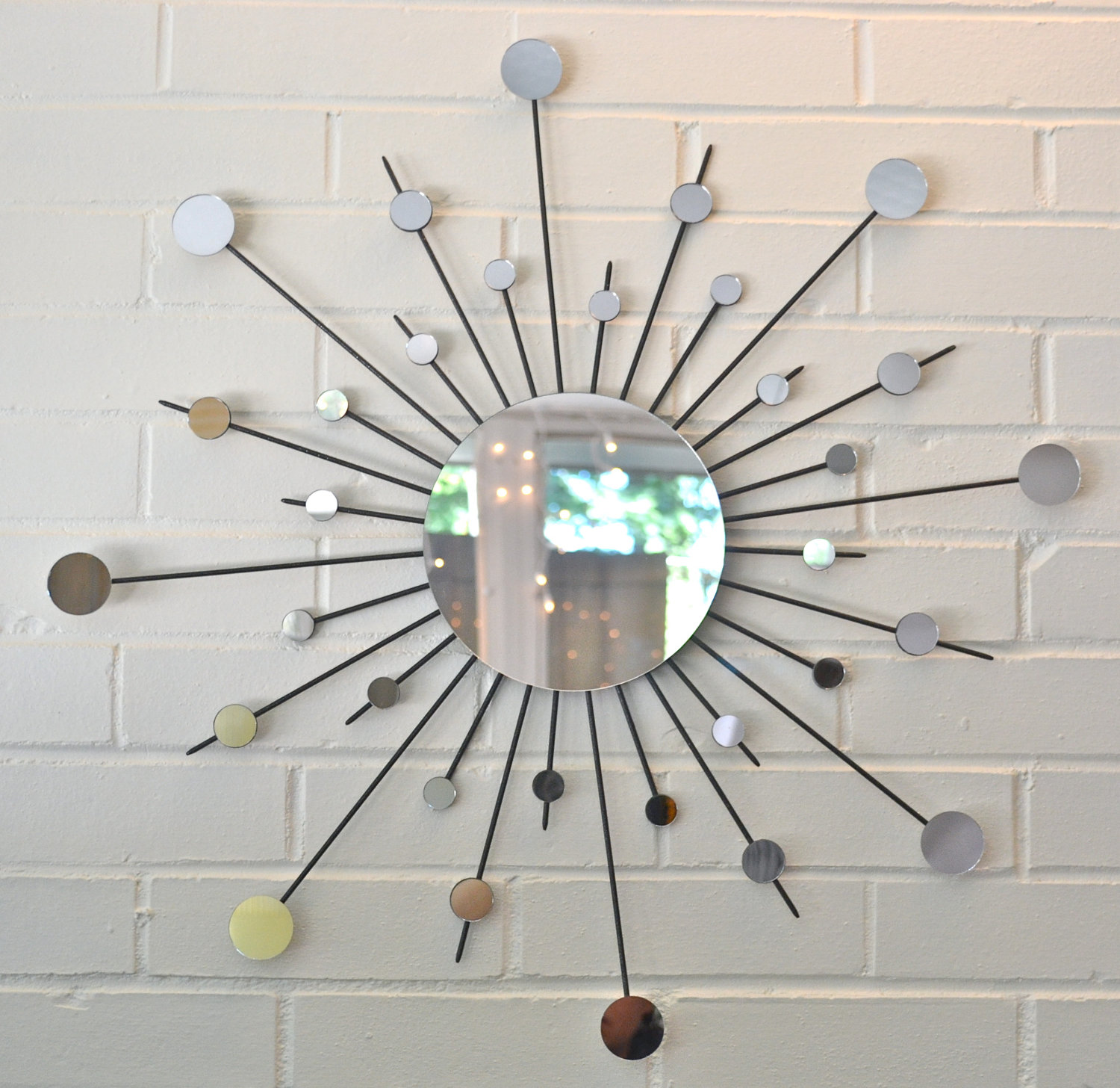 Image of: sun mirror wall decor
