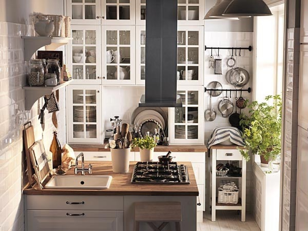 Image of: tiny kitchen design ikea