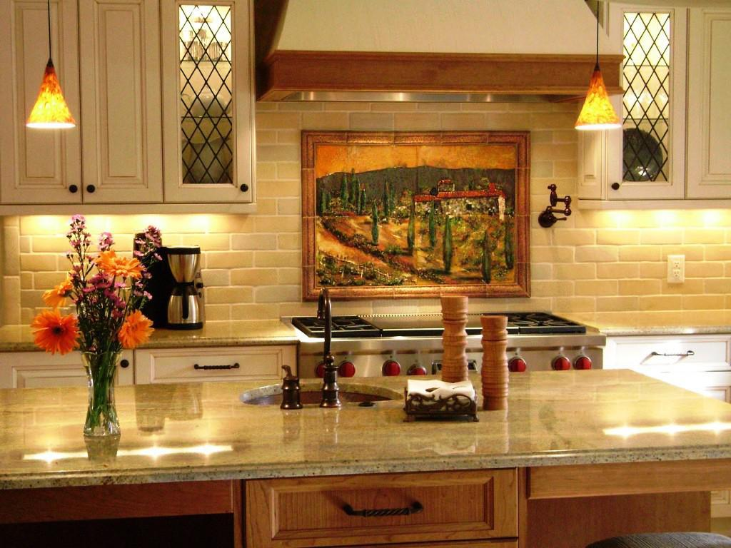 Image of: tuscan kitchen wall decor