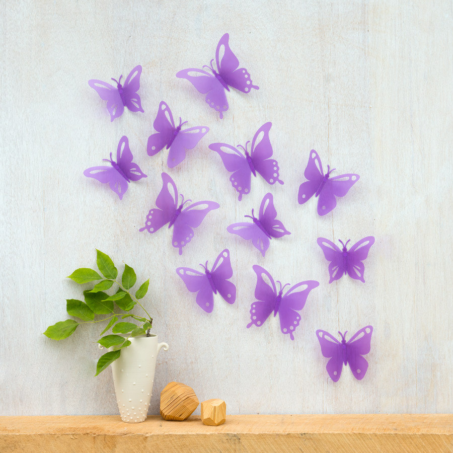Image of: wall butterfly decor