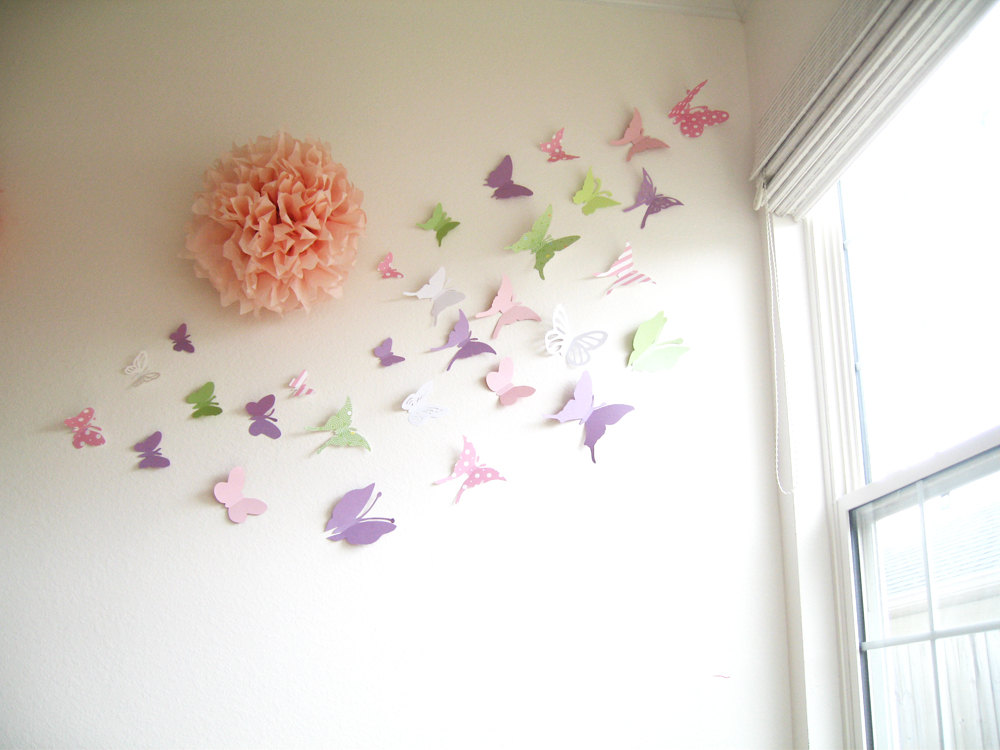 Image of: wall decor butterflies