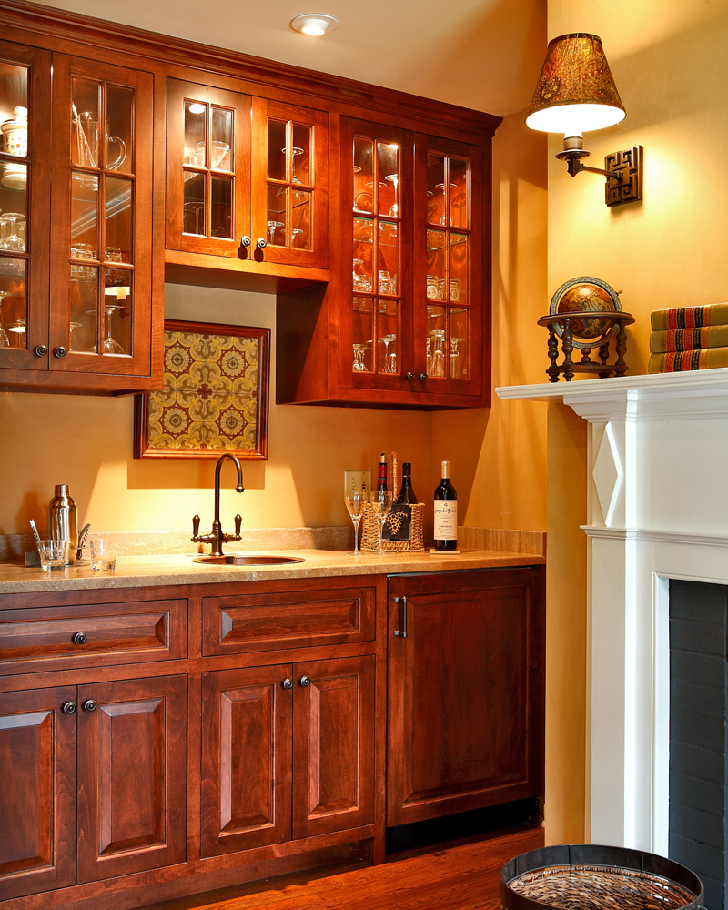 Image of: wet bar design