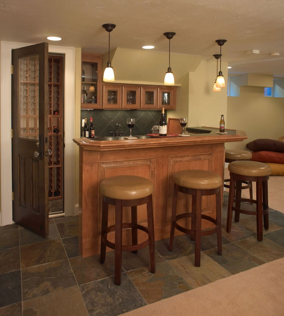 Image of: wet bar designs basement