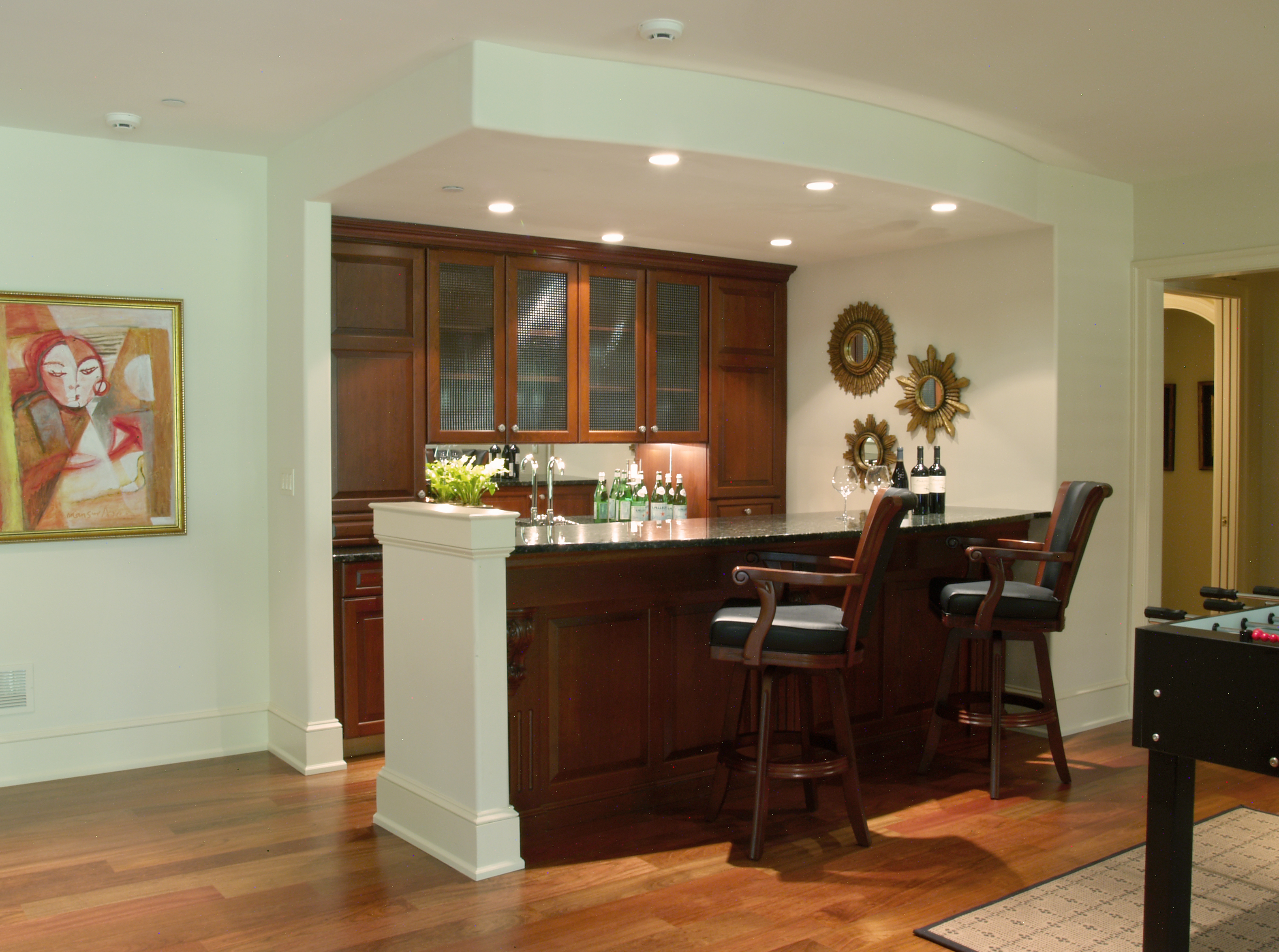 Image of: wet bar designs for basements