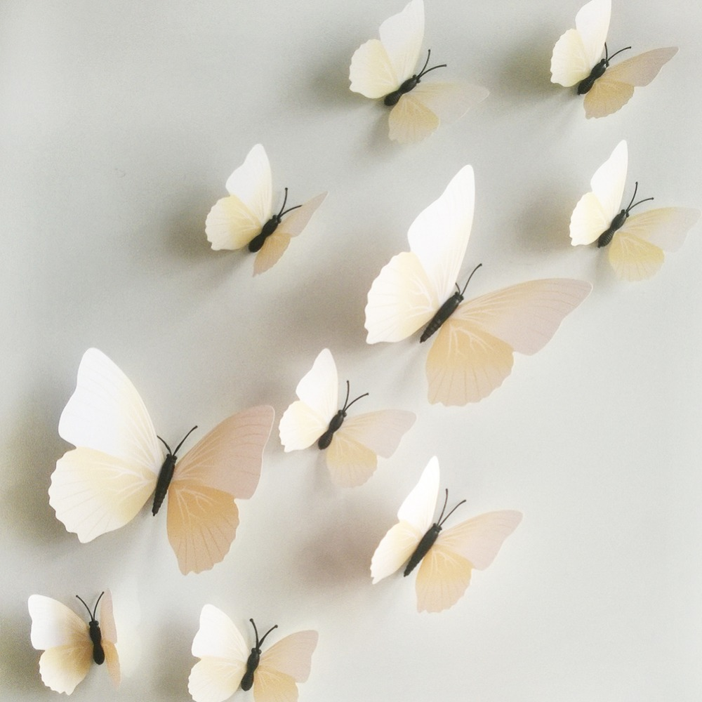 Image of: white butterfly wall decor