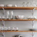 white decorative shelves