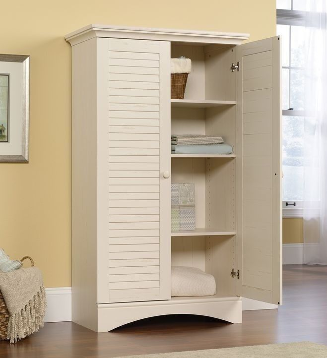 white kitchen pantry storage cabinet