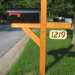 wood mailbox post designs