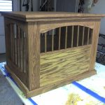 wooden dog crate end table