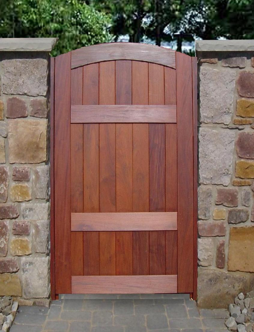 Image of: wooden gate designs diy