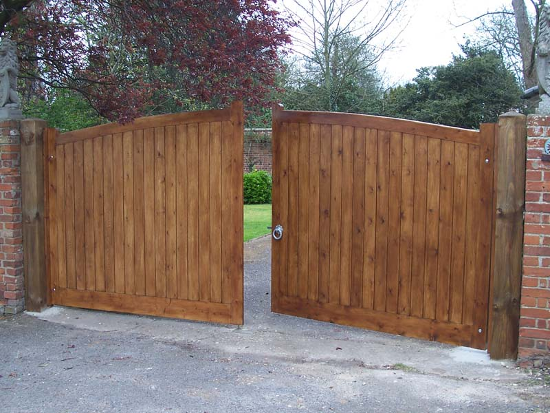 Image of: wooden gates designs