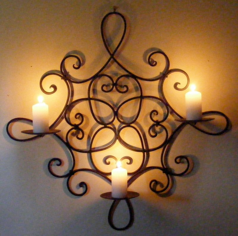 Image of: wrought iron wall decor
