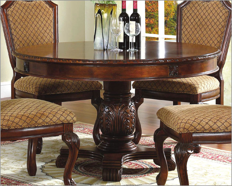 Image of: 54 round pedestal dining table