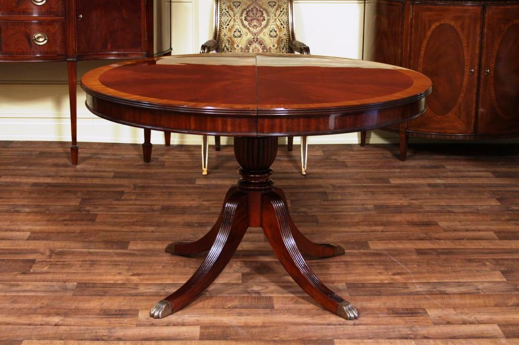 Image of: 60 round pedestal dining table