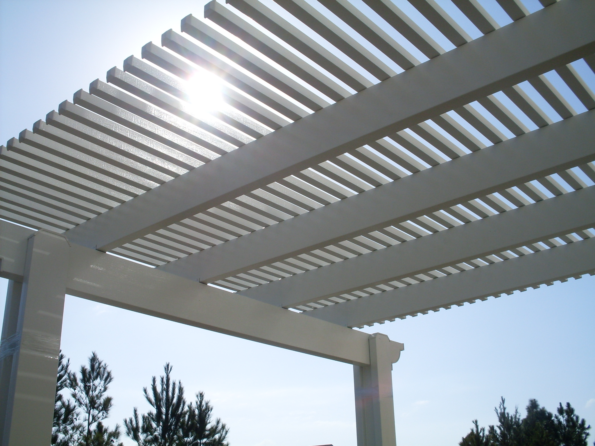 Image of: aluminum trellis design