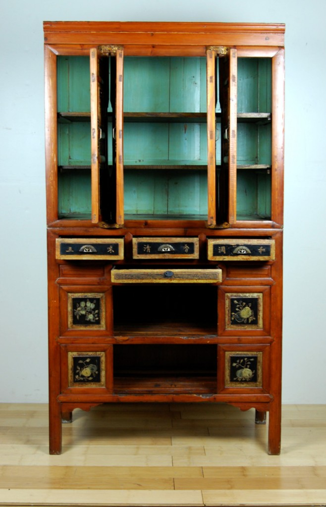 Image of: antique kitchen pantry cabinet