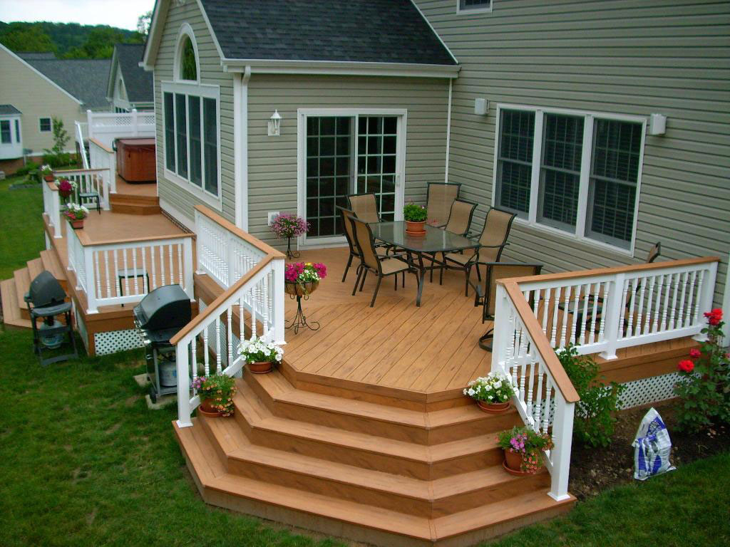 Image of: backyard deck design
