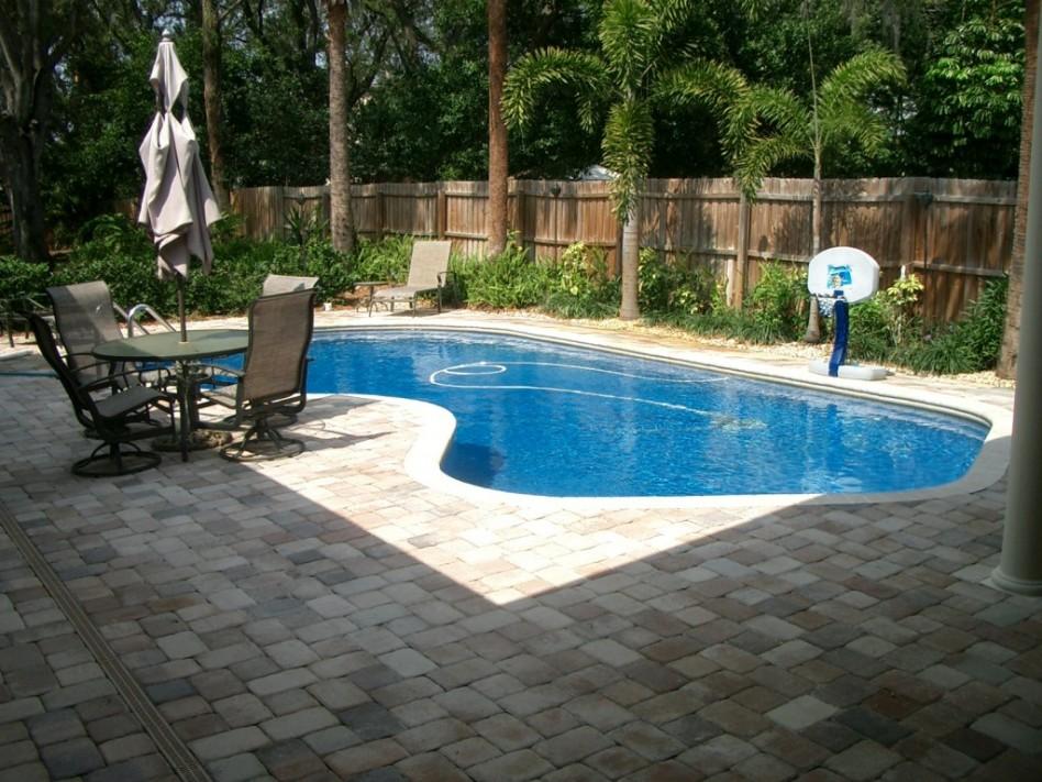 Image of: backyard inground pool designs