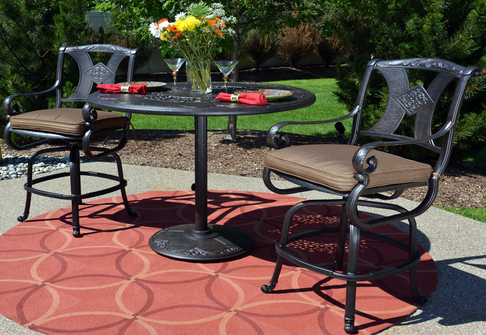 Image of: bar height patio table and chair sets