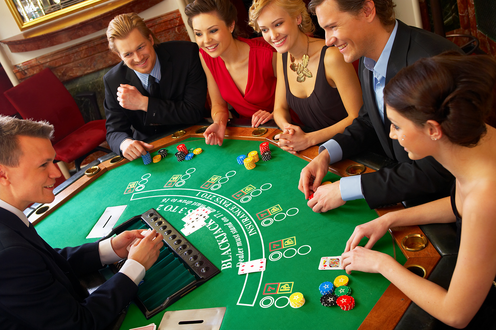Image of: blackjack table top