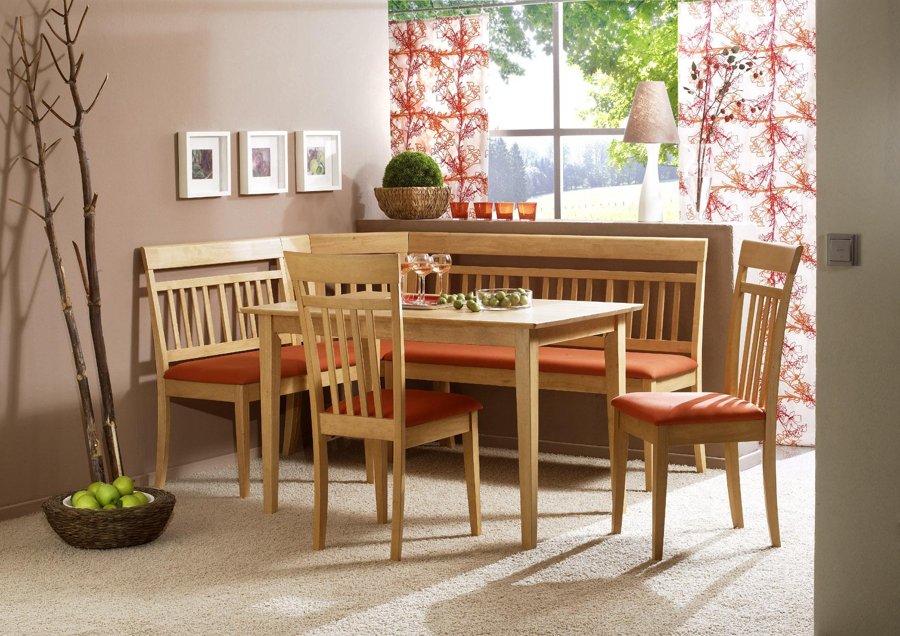 breakfast nook table and chairs