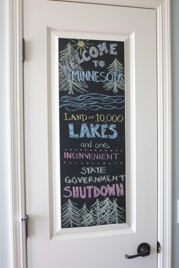 Image of: chalkboard door design ideas