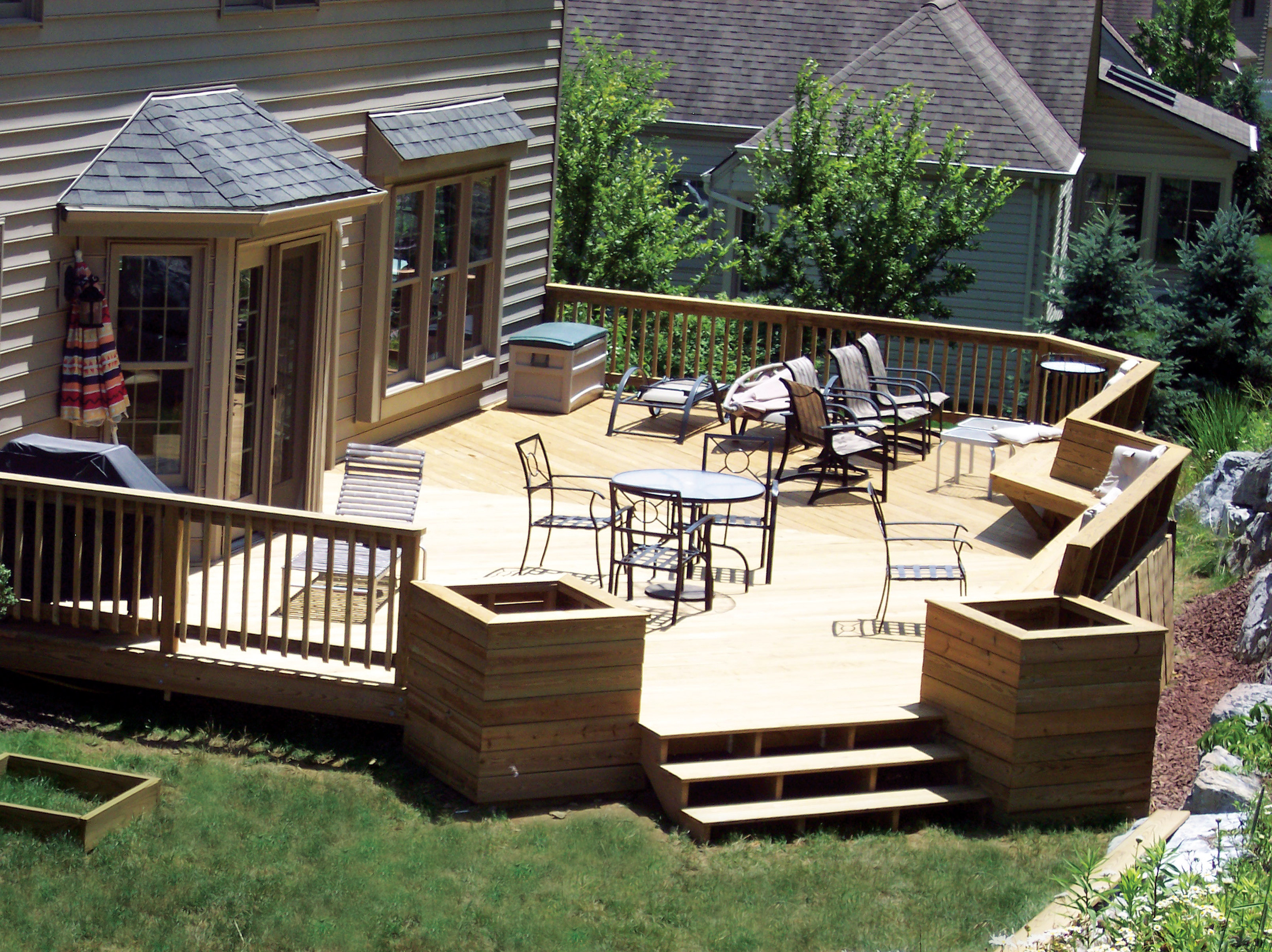Image of: deck designs backyard