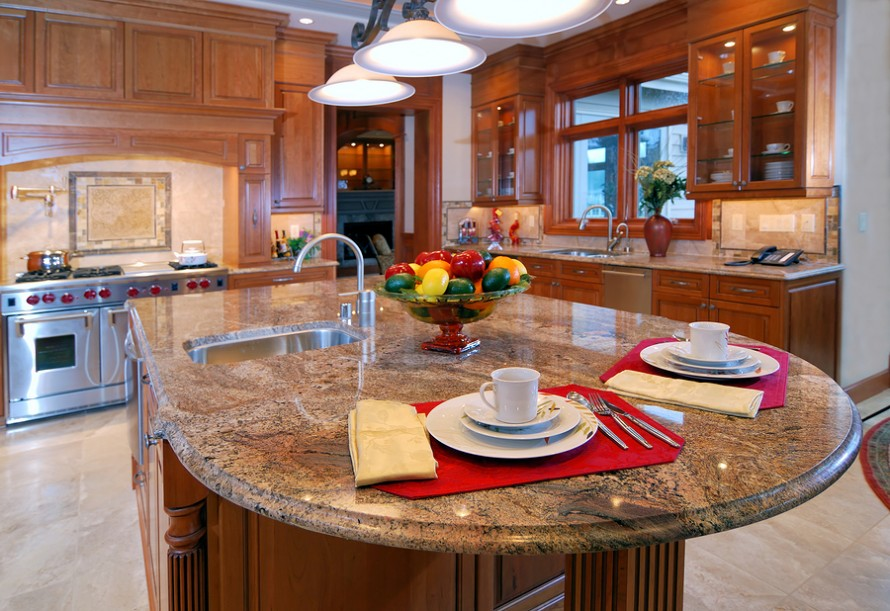 Image of: dining table granite top
