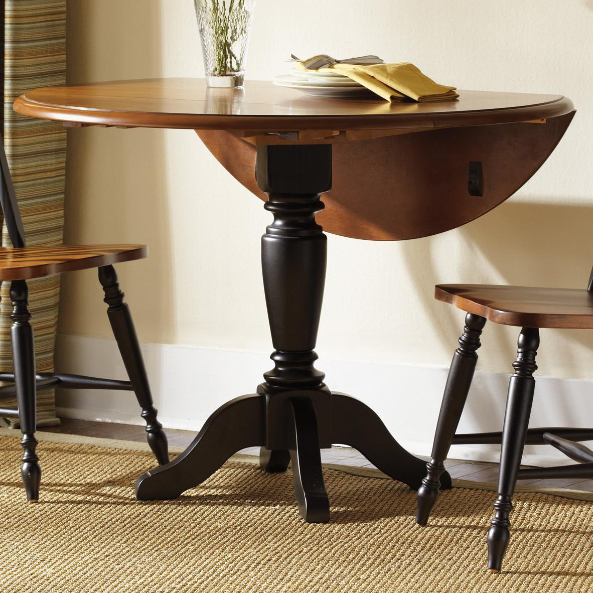 Image of: drop leaf round table